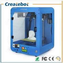 Createbot 3d printer High Precision Full Assembled Dual Extruder MINI 3D Printer kit With Heatbed +1ROLL Filament+8GB SD Card