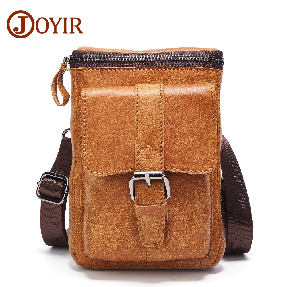 JOYIR Men Casual Small Genuine Leather Shoulder Bags Leather Messenger Crossbody Travel Bag Handbag for Men Male 6330 2017 New xi yuan 2017 genuine leather bags men high quality messenger bags small travel dark brown crossbody shoulder bag for men gifts