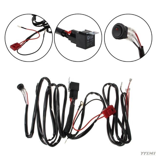 atv light bar wiring kit schematic diagrams light bar wiring diagram rzr 1000 led light bar wiring harness for boat suv off road atv 40 amp relay led light harness atv light bar wiring kit