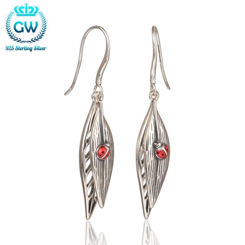 2016 New Vintage Earrings Pendientes Animales Sterling 925 Silver Earring For Women Brand GW Jewellery Er1050