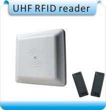 ISO18000-6C UHF lector RFID 8dbi Antena RS232/RS485/Wiegand Leer 3-8 M Integrativa UHF RFID Reader + 2 Etiquetas rfid