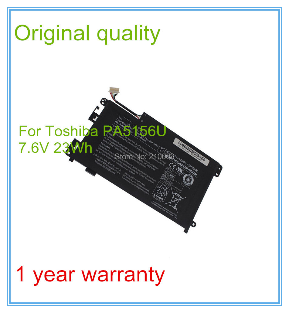 100% New 7.6V 3000mah Original Laptop battery For PA5156 PA5156U 3000mah new syringe infusion pump battery for braun 33175551 vista basic