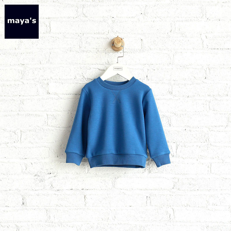 все цены на Mayas Fleece Cotton Warm Sweater For Children Boys Solid Color O Neck Full Sleeves Hoodie Kids Causal Basic Homewear 71059