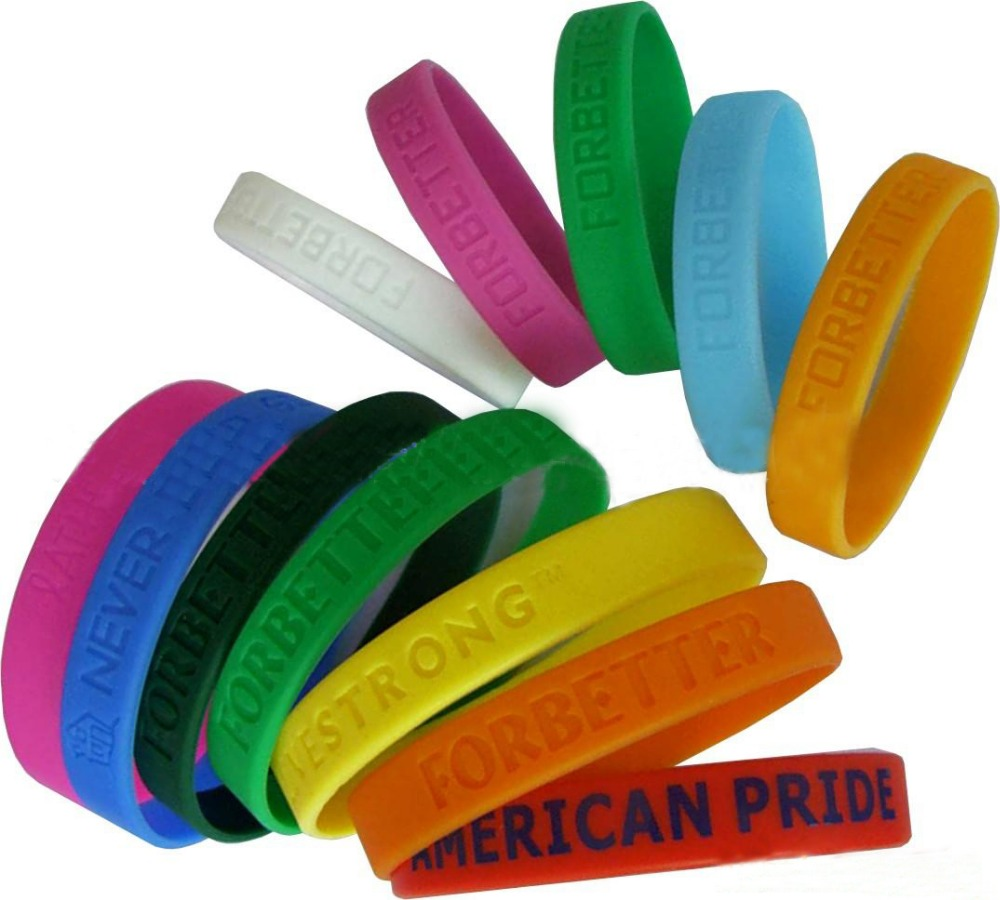 wristbands wrist bracelets rubber product customized silicone bags shopping reusable bands orange custom