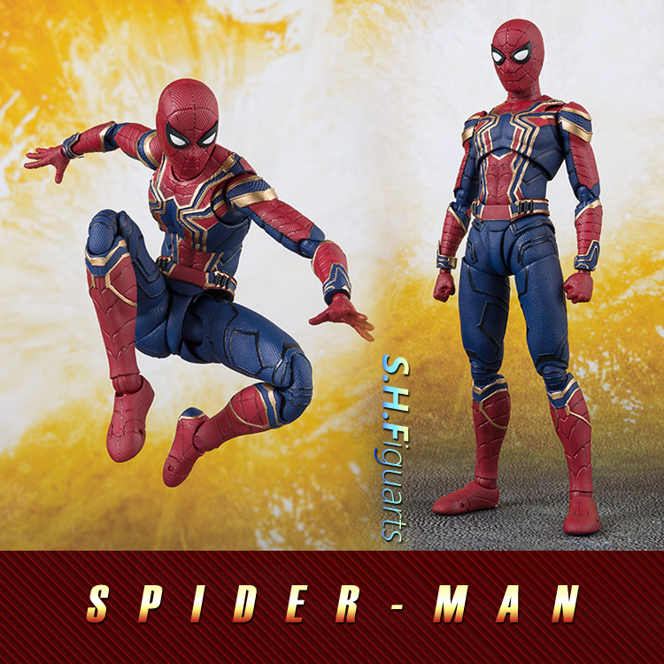 15 cm Avengers infinity war super-héros SHF Iron Spider-Man Peter Parker Iron Man's teammates PVC figurine d'action