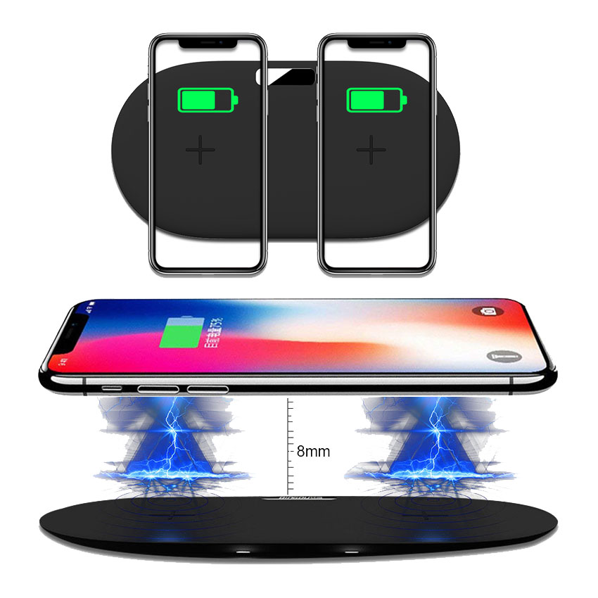 phone 2 in1 Dual QI 10W Wireless Charger Pad for iPhone samsung Nokia Lumia 850 Charging Stand for xiaomi mix 2s huawei mate RSphone 2 in1 Dual QI 10W Wireless Charger Pad for iPhone samsung Nokia Lumia 850 Charging Stand for xiaomi mix 2s huawei mate RS