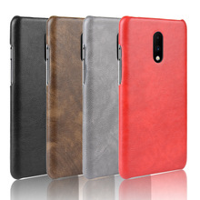 for OnePlus 7 Pro 6T 6 5T Cover Back Hard Business Litchi Luxury Leather Case Cover For One Plus 6T 6 5T Fundas Coque