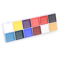 12 Colors Flash Tattoo Face Body Paint Non Toxic Oil Painting Art Use In Halloween Party