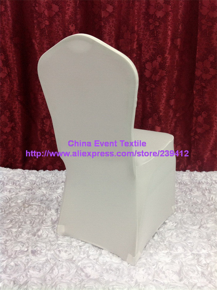 ivory chair covers spandex used 150pcs extra thicker arch front lycra wedding cover for events banquet party decoration
