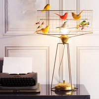 Nordic modern Desk Lamp minimalist lamp living room bedroom bedside table lamp gold bird cage study decorative lamp wl3221655