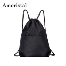 Fashion High Quality Drawstring Bags String Sack Men Travel Storage Package Teenagers Backpack Bag for Women Pocket Bag B142