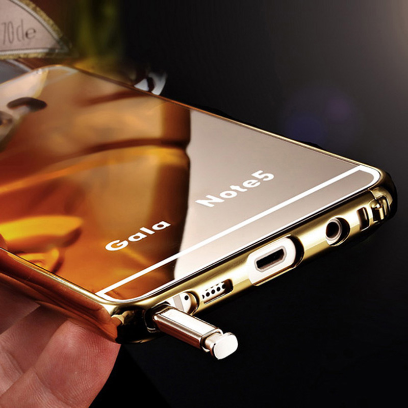finest selection 185d5 f33f9 US $21.98 |Aliexpress.com : Buy For Samsung Galaxy Note 5 Mirror Aluminum +  Acrylic Back Cover Case for Samsung Galaxy Note 5 Note5 N9200 N920 Phone ...