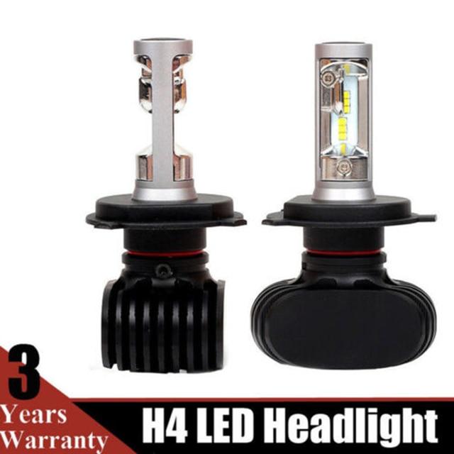 1 par de faros delanteros de automóviles bombillas 12 V faros delanteros de coche H4 bombillas LED faros de coche bombilla 6500 K conducción luz de la lámpara