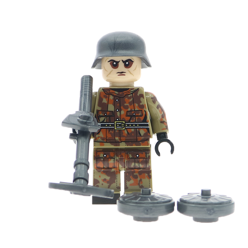 WW2 Russian American Italy British Polish Military Army SWAT Soilders  figures Building Blocks With Weapons accessories toys gift