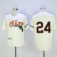 Mens retro 1964 Jimmy Wynn cosido nombre y número Houston Colts jersey de la vuelta del béisbol tamaño M-3XL