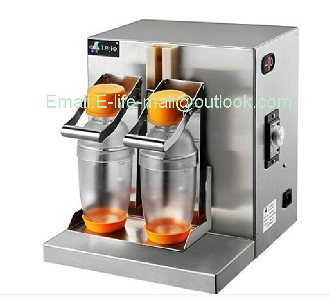 CE certification High efficiency Double Head Milk Tea Shaking Machine YY120-2 edtid new high quality small commercial ice machine household ice machine tea milk shop