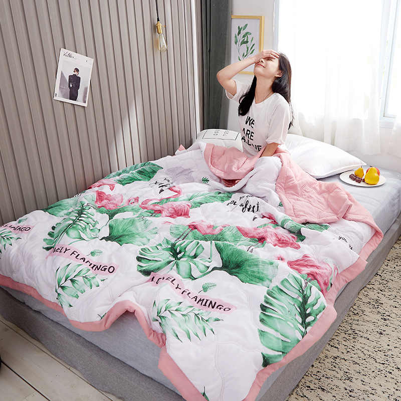 2019 New washed cotton single double summer quilt machine washable cotton summer cool air conditioning quilt Suitable for Adults