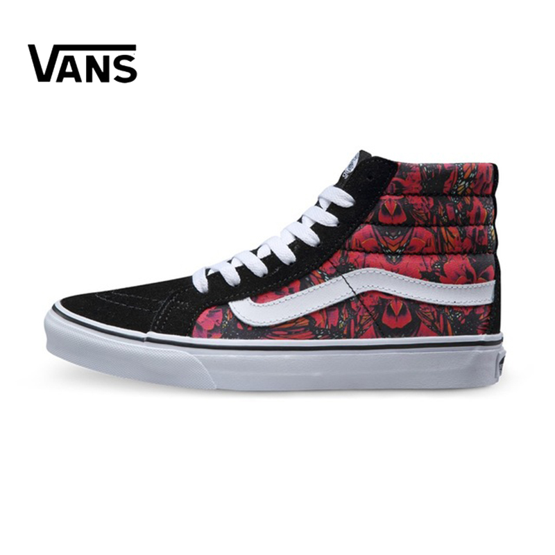 Original New Arrival Vans Women's Classic Sk8-Hi Skateboarding Shoes Sneakers Canvas Outdoor Comfortable VN0A32R2LW7 цена
