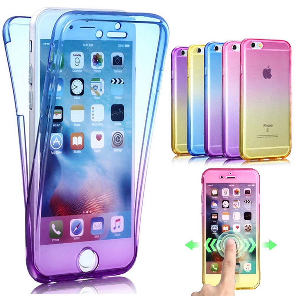 New Soft For Coque iPhone 7 360 Case Full Body Protective ...