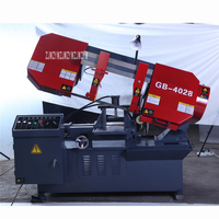 GB4028 Semi automatic Horizontal Metal Band Sawing Machine High quality Band Saw Metal Cutting Machine 380V 2.2KW (400*280mm)