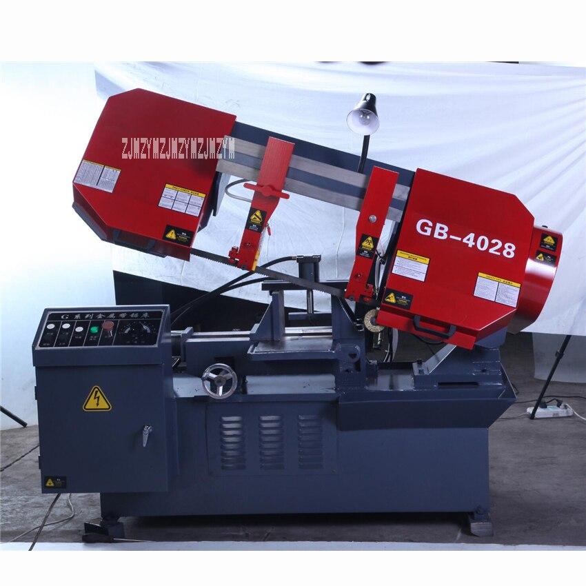 GB4028 scie à ruban horizontale semi-automatique de haute qualité scie à ruban Machine de découpe de métal 380 V 2.2KW (400*280mm)
