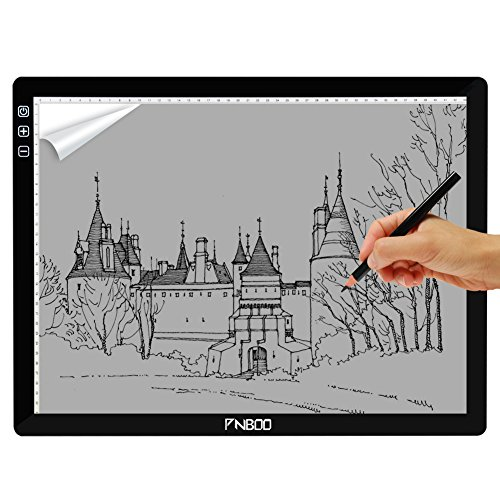 PNBOO PA4 18 Diagonal Length Ultra Thin 7mm Tracing Light Box with 10 PCS A4 Sheets