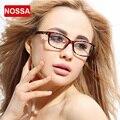 NOSSA Estilista Ultral Luz TR90 Óculos de Armação Leopard Elegante Limpar Frame Óculos Prescrição de Óculos Armação das Mulheres
