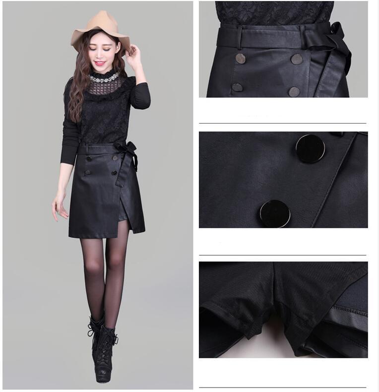Jupe 2019 Femme De Élégante Haute Jupes Mode Grande Hiver Midi Pu Ly244 Noir Printemps Femmes Taille Décontractée Automne f8rY8Xq