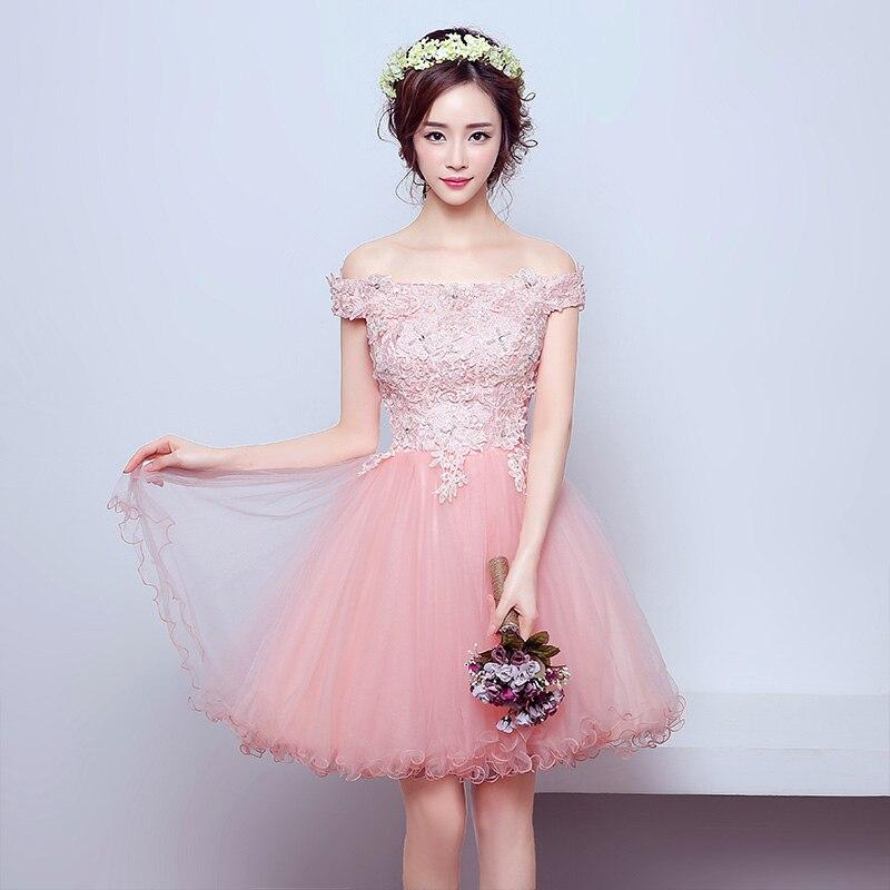 WB553 Plus Size Prom Dress Ball Gown Vestido De Formatura Pink ...