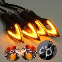 4x Universal 12V 1.3W 12 LED Motorcycle/Motorbike Turn Signal Indicators Blinker Amber Light Lamp Bulb for Honda Yamaha Etc.