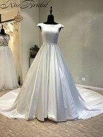 Vestido De Noiva 2018 Stunning Wedding Dresses A Line Corset Back Satin Cheap Bride Dress Robe