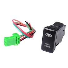 12V Bar Rocker Toggle Switch Blue LED fog Light car ON/OFF Locking Switch for TOYOTA Blue Light 39 * 21 * 59MM Freeshipping