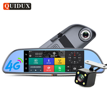 QUIDUX 4G Car DVR Full HD 1080P Android GPS Navigation ADAS 6.86″ Rearview mirror video camera Recorder Car Detector dashcam