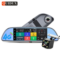 Android Car DVR ADAS 4G Dash Cam GPS Navigation Car Rear View Mirror With Two Camera