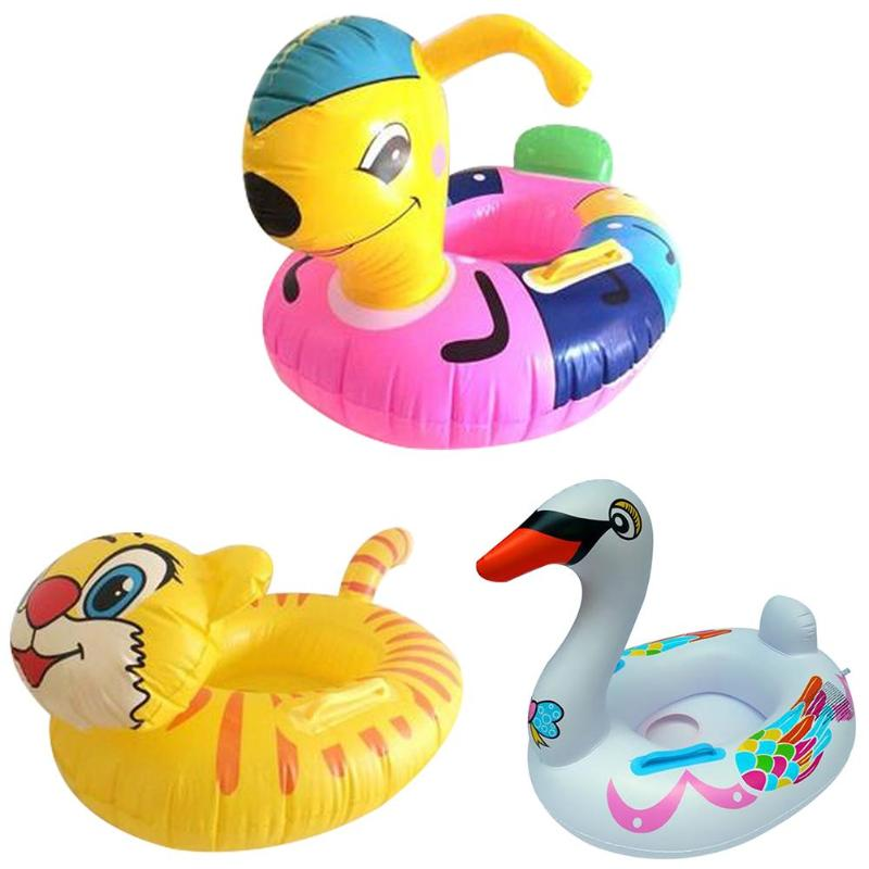 Cute Cartoon Baby Swimming Ring Inflatable Pool Float Toys Outdoor Beach Water Toys Party Supplies Swimming Rings for Kids Adult