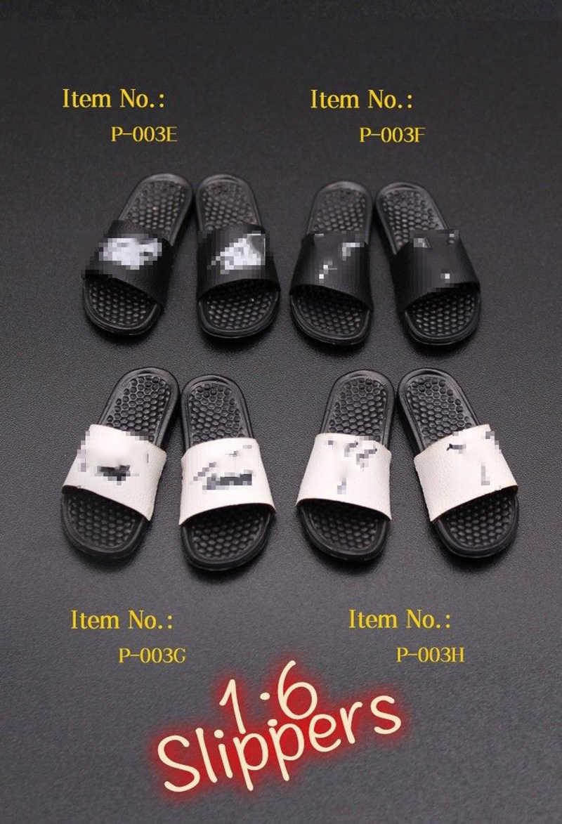 """1/6 P-003 Sandal Sandal Sepatu Model 1/6 Skala Mini Kali Mainan untuk 12 """"Pria/Wanita Action Figure koleksi Model"""