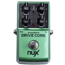 NUX Drive Core Guitar Effect Pedal Booster Overdrive Warm and natural overdrive of tube saturation True Bypass