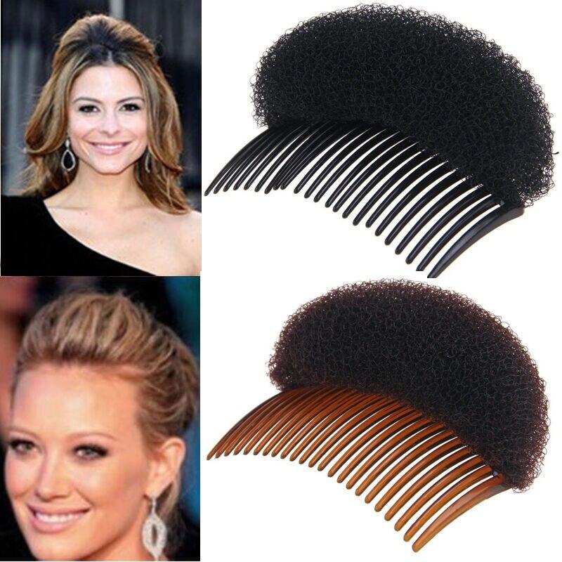 2019 New Women Fashion Hair Styling Clip Volume Boost Comb Stick Bun Maker Braid Tool