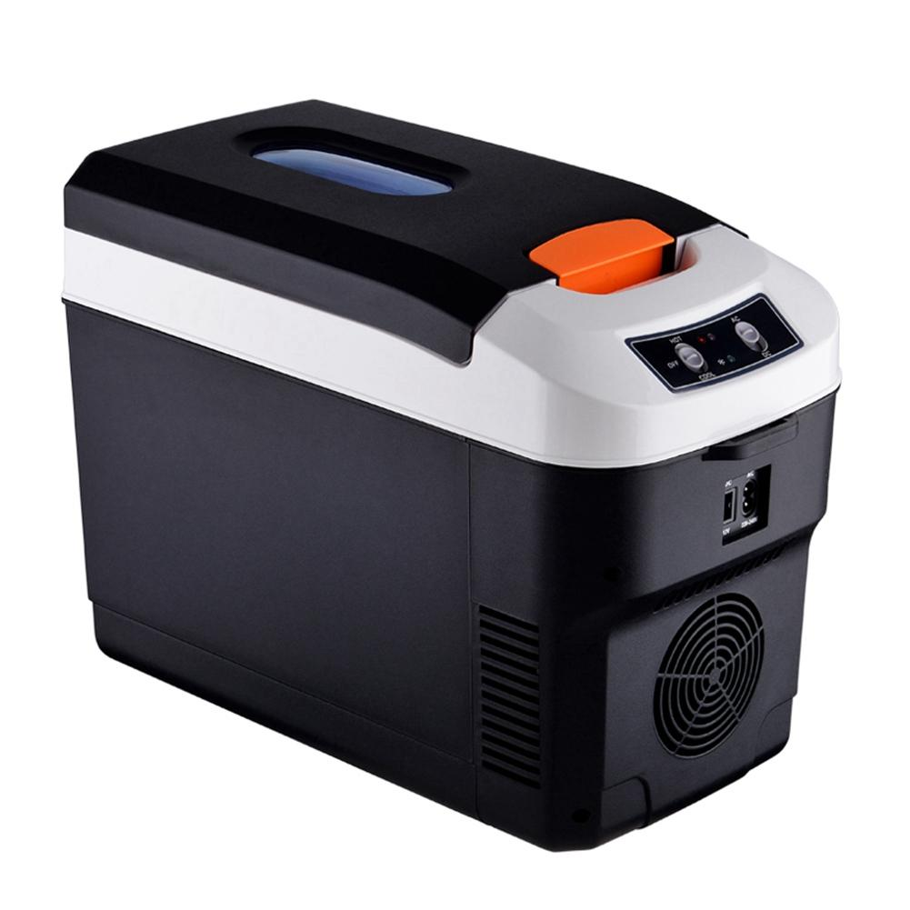 Car Fridge 10L Mini Refrigerator Car Home Dual-use Refrigerator Outdoor Camping Refrigerator title=