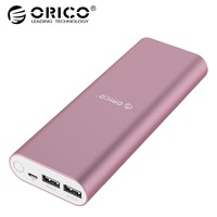 ORICO 20000mah Li polymer External Battery 5V2.1A Dual Output Power Bank with Indicator Charge for Samsung Xiaomi Huawei