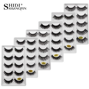 New 10 lots wholesale factory price mink false eyelashes hand made false eyelash natural long 3d mink lashes makeup faux cils 1