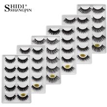 New 10 lots wholesale factory price mink false eyelashes hand made false eyelash natural long 3d mink lashes makeup faux cils