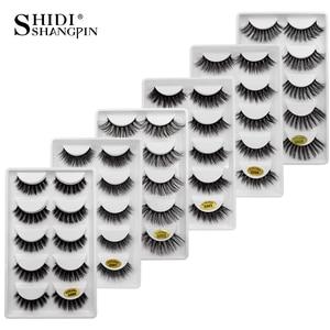 Image 1 - New 10 lots wholesale factory price mink false eyelashes hand made false eyelash natural long 3d mink lashes makeup faux cils