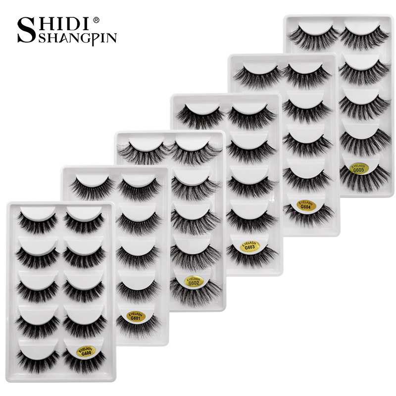 New 50 Pairs Wholesale Factory Price Mink False Eyelashes Hand Made False Eyelash Natural Long 3d Mink Lashes Makeup Faux Cils