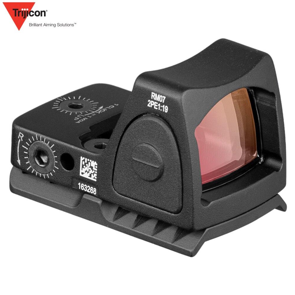 Mini RMR point rouge vue collimateur Base Glock/pistolet de poing lunette de visée réflexe ajustement 20mm tisserand Rail pour Airsoft/fusil de chasse