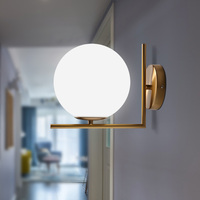 Post Modern Nordic Wall Sconce Iron Glass Ball Wall Lights Indoor Outdoor Lamp For Restaurant Living