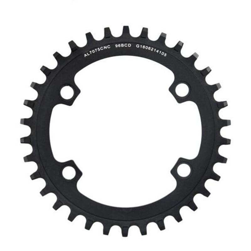 ФОТО Mountain bicycle crank chainwheel mtb crankset bike crankset chainring 34T BCD 96mm use M8000 cranks