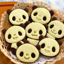 12pcs/set Lovely Panda Sandwich Cookies Mold Biscuit Bread Cake Pastry Mould Kitchen Cooking Barking Mould Tools Free Shipping