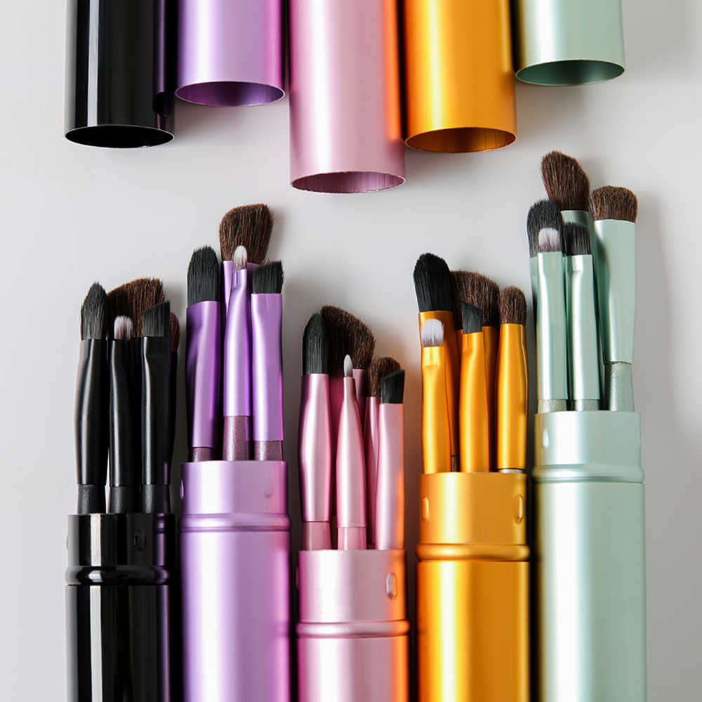 BBL 5 шт. портативные мини-кисти для макияжа глаз набор манок Тени Карандаш для глаз карандаш для бровей Кисть для макияжа губ набор кистей Профессиональный