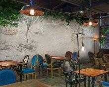 купить Custom Photo Wallpaper Modern 3D Wall Mural Wallpaper Green plant concrete Art Bedroom Office Living Room Wall Paper Beibehang по цене 584.08 рублей